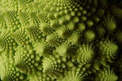 Romanesco green vegetable background. Romanesco cauliflower buds closeup, green vegetable background royalty free stock photography