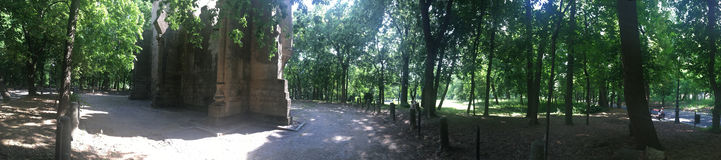 Romanescu公园全景,克拉约瓦,罗马尼亚 库存照片