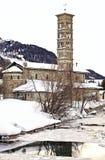 Romanesque εκκλησία St.Karl, ST Moritz Στοκ εικόνα με δικαίωμα ελεύθερης χρήσης