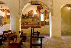 Romanesque εκκλησία Sant Joan de Boi, Λα Vall de Boi Στοκ φωτογραφίες με δικαίωμα ελεύθερης χρήσης
