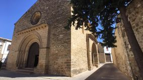 Romanesque εκκλησία Santa Cruz, Baeza, Jae'n επαρχία, Ανδαλουσία, Ισπανία απόθεμα βίντεο