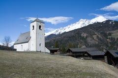 Romanesque εκκλησία ST Nikolaus, Matrei, Αυστρία Στοκ Φωτογραφία
