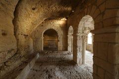 Romanesque παρεκκλησι του ST Peter στο αβαείο Montmajour κοντά σε Arles, Στοκ Φωτογραφία