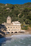 Romanesque Abbey of San Fruttuoso near to Portofino royalty free stock image