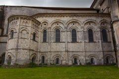 Romanesque abse. Of Saint Eutrope church in Saintes, France stock photos