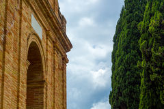 Romanesque arc Royalty Free Stock Photography