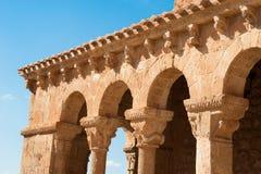 Romanesque arcade. Romanesque church facade and its arcade Royalty Free Stock Photography