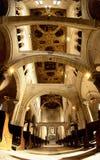 Romanesque arcade. White Romanesque church arcade in Bari, Italy Royalty Free Stock Image