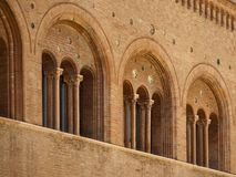 Romanesque architecture in parma italy Stock Image