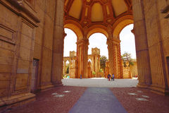 Romanesque architecture in San Francisco Palace of Fine Arts Royalty Free Stock Images