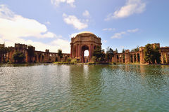 Romanesque architecture in San Francisco Palace of Fine Arts Royalty Free Stock Image