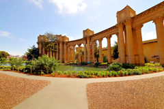 Romanesque architecture in San Francisco Palace of Fine Arts Stock Images