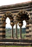 Romanesque architectuur van Pisan Stock Afbeeldingen