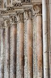 Romanesque art columns Royalty Free Stock Images