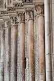 Romanesque art columns Royalty Free Stock Images