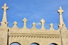 Romanesque battlement decoration Royalty Free Stock Image