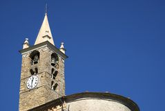 Romanesque bell tower Stock Images