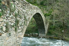 Romanesque bridge of La Margineda Royalty Free Stock Photo