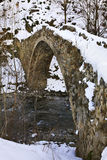 Romanesque bridge in La Margineda. Principality of Andorra Royalty Free Stock Images