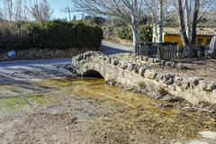 Romanesque bridge of Loarre in Huesca  Spain Royalty Free Stock Photography