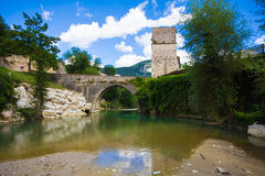 Romanesque bridge Stock Photo