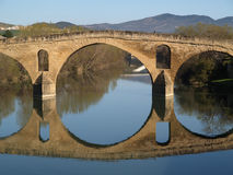 Romanesque bridge At Puente la Reina Royalty Free Stock Images