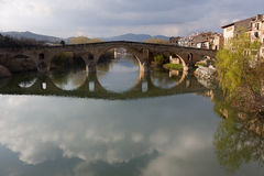 Romanesque bridge (Spain) Royalty Free Stock Photo