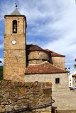 Romanesque cathedral church in Hecho Aragon Royalty Free Stock Photos