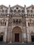 The Romanesque cathedral Royalty Free Stock Images