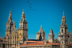 Romanesque Cathedral in Galicia Stock Images