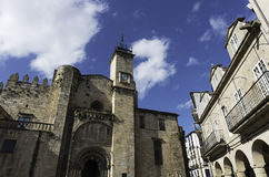 Romanesque cathedral of Ourense, Spain. Side view of the romanesque cathedral of Ourense in Galicia, Spain Stock Image