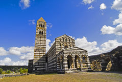 Romanesque Church. The church of the St. Trinity in Saccargia is the most famous Romanesque-Pisan churches in Sardinia, Italy Stock Images