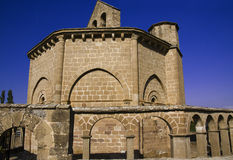 Romanesque church Stock Photos