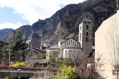 Romanesque church Andorra La Vella Royalty Free Stock Photography