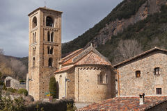 Romanesque church of Beget Stock Images