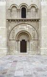 Romanesque church door. Detail religious monument stock image