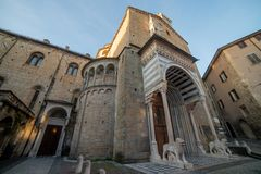 Basilica of Santa Maria Maggiore in Bergamo stock photo