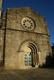 Romanesque church of Fonte Arcada stock images