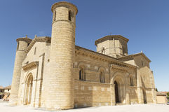 Romanesque Church of Fromista on the way to Santiago, Palencia, Spain Royalty Free Stock Image