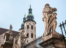 Romanesque church in Krakow Royalty Free Stock Image