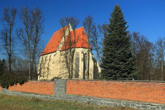 Romanesque church in Milevsko Stock Photos