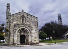 Romanesque church in Oporto Royalty Free Stock Photography