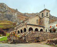 Romanesque church in Pajares Royalty Free Stock Image
