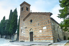 Romanesque church of Polenta Royalty Free Stock Photo