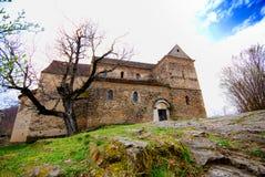 Romanesque church in Romania stock photo
