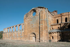 Romanesque church ruins Royalty Free Stock Image