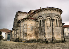 Romanesque church of S. Pedro de Rates stock photo