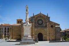 Church of San Pedro, Avila, Castilla y Leon, Spain stock photography