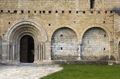 Romanesque  church of Sant Andreu, Salardú, Aran Valley, Lleida. Province Catalonia, Spain Royalty Free Stock Images