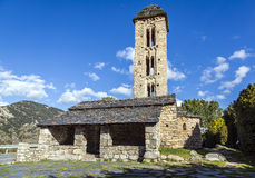 Romanesque church Sant Miquel d�Engolasters, Andorra Stock Photos